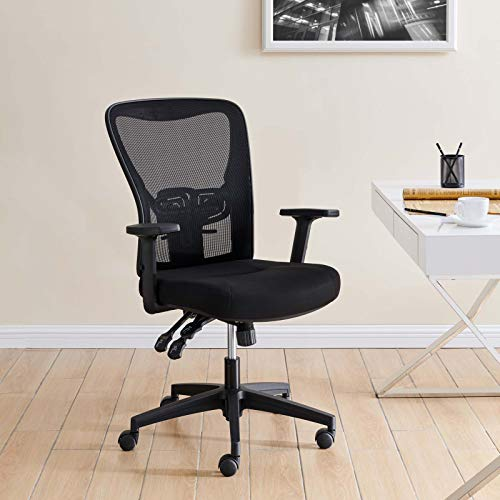 Modway Define Mesh Ergonomic Office Desk Chair in Black