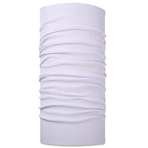 (Wujia 2pcs Solid Headband Multifunction Seamless Bandana Magic Scarf (White))
