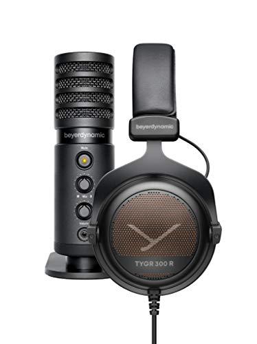 beyerdynamic TEAM TYGR Streaming Bundle including The Open-Back Gaming Headphone TYGR 300 R and The USB-Microphone Fox
