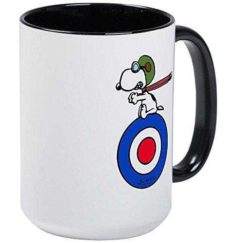 CafePress - Snoopy - Flying Ace Large Mug - Coffee Mug, Large 15 oz. White Coffee Cup (Ace Mug)
