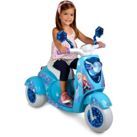 6-Volt Disney Frozen 3-Wheel Scooter Highlights True Frozen Illustrations, Forward And Reverse Ride-On