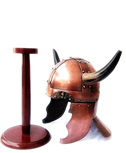 THORINSTRUMENTS (with device) Viking Warrior Helmet w/Horns - Medieval Costume (Real Thor Costume)