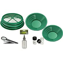 SE GP5-KIT107 Prospecting Mining Panning Kit Classifier & 2 Gold Pans (7 PC.)