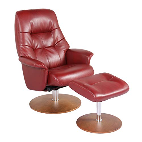 Coja by Sofa4life Perego Faux Leather Recliner and Ottoman ()