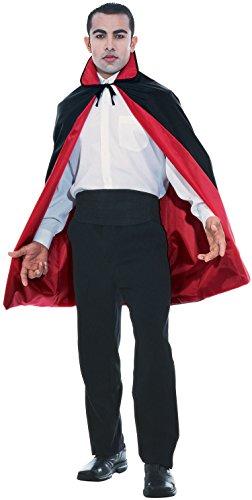 Rubie's Reversible Cape 3/4 Length Costume, Black,