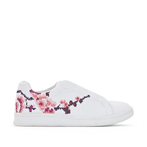 La Redoute Collections Mdchen Sneakers mit Aufgestickten Blumen, Dehneinsatz,