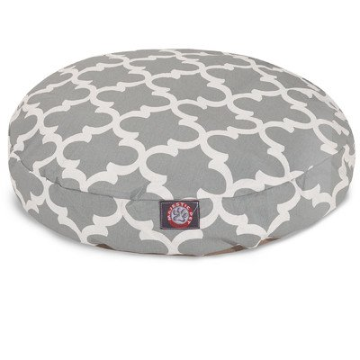 Gray Trellis Large Round Indoor Outdoor Pet Dog Bed With Removable Washable Cover By Majestic Pet Products by Majestic Pet