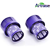 Artraise 2pack Vacuum Filter Compatible for Dyson Cyclone V10, SV12. Compare to Part # 969082-01