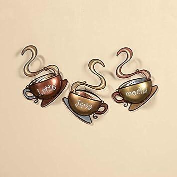 Coffee House Cup Mug Latte Java Mocha Metal Wall Art Home Decor (1, DESIGN