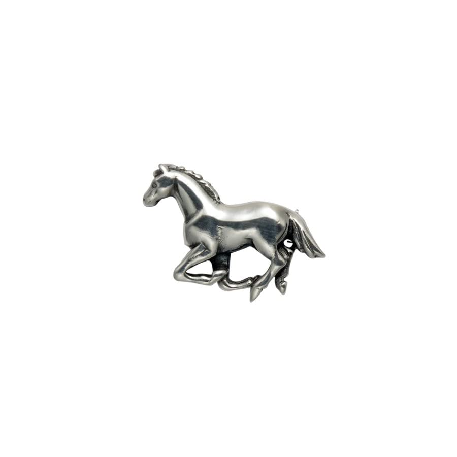 Wild Things Small Sterling Silver Running Horse Pin