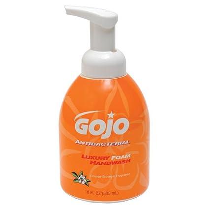 GOJO® – Espuma de lujo Handwash antibacteriano, azahar, 18 oz Bomba – se