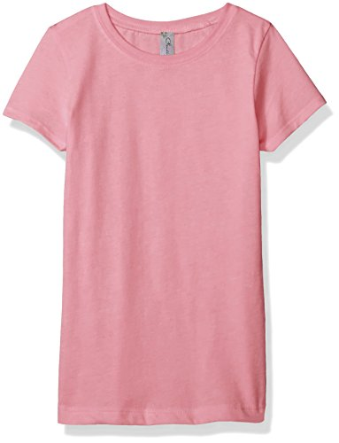 Clementine Apparel Little Girls' Everyday T-Shirt, Light Pink, (Kids Womens Pink T-shirt)