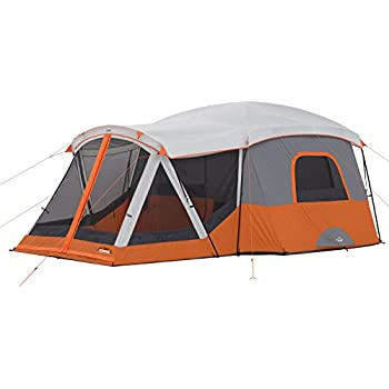 CORE 11 Person Cabin Tent with Screen Room - 17u0027 x ...  sc 1 st  Amazon.com & Amazon.com : Ozark Trail 10-Person 3-Room XL Family Cabin Tent ...
