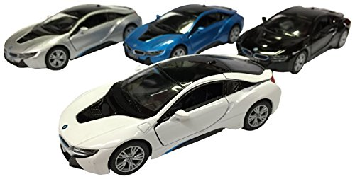 Amazon Com Kinsmart Bmw I8 1 36 Scale Super Car 4 Piece Toys Games