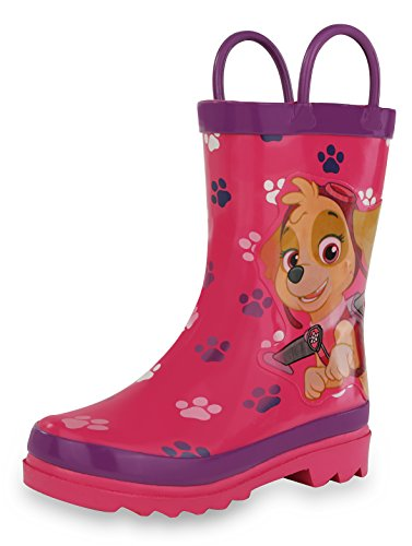 Nickelodeon Paw Patrol Girl's Pink Rain Boots - Size 2 Little -