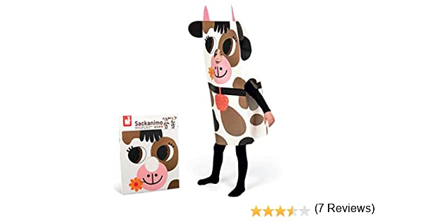 Janod - Sackanimo disfraz de vaca en cartón (J02863): Amazon.es ...