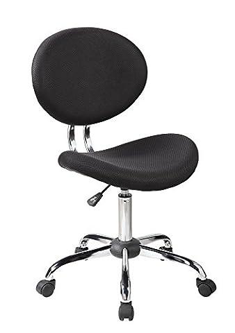 EuroStile Mid-Back Mesh Task Chair Office Desk -1011BK - Warrior Rock Sliders