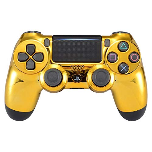 eXtremeRate Front Housing Shell for Playstation 4 PS4 Pro Slim JDM-040 JDM-050 JDM-055 Controller - Chrome Gold