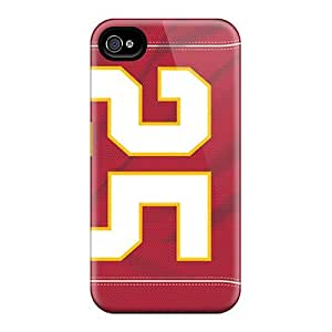 Shockproof Hard Cell-phone Cases For Iphone 4/4s With Custom Nice Kansas City Chiefs Image KevinCormack