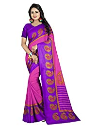 Shonaya Women`S Georgette Printed Saree with Unstitched Blouse Piece