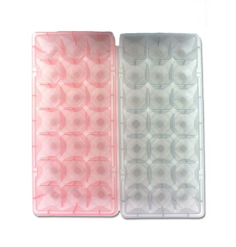 Jewel Party Trays - Diamond Jewel Gem Shaped Party Small Mini Ice Cube Trays - Set of 2