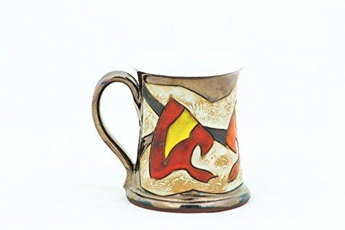 Pottery Coffee mug 11.8oz , Autumn Collection, Ceramic Tea cup, Handmade cup, Stoneware mug, Tea & Coffee party, Tea ceremony, Hostess gift
