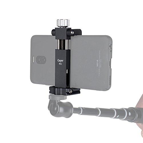 Smartphone Tripod Mount, Cayer MC1 Aluminum Foldable Phone H