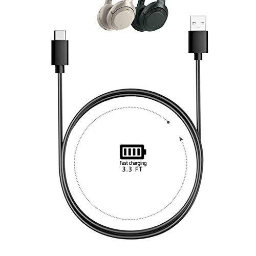 Cable de carga del cargador tipo C para Sony WH-1000XM4--