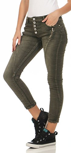 Distrutto Pants Skinny Denim Hip Jeans Armee Anteriore Zarmexx 1899 Button 7 8 Stretch Look Donna Fwaqq0gY