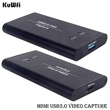KuWFi Tarjeta de Dispositivo de Captura de Video HDMI a USB3.0 HD Conversores de Video Transmisión de Juegos Transmisión en Vivo Transmisión 1080P ...