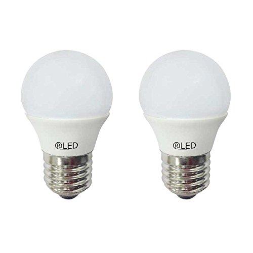 RLED Pack de Bombillas LED Esféricas con Luz Cálida E27, 5.2 W, Amarillo 4.5 x 7.4 cm 2 Unidades: Amazon.es: Iluminación