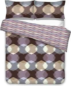 Touchwood Space King 3 Piece Cotton Duvet Cover Set King Size