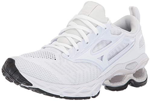 4d1dbf5278bf Mizuno Women's Wave Creation 20 Knit Running Shoe, White 8.5 B US