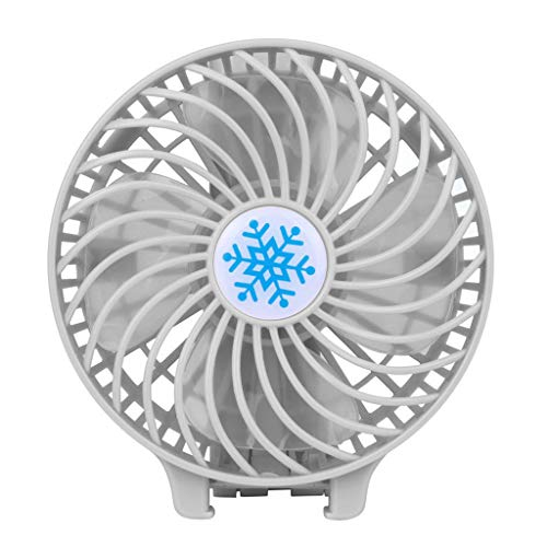 Ktyssp Portable Rechargeable Fan Air Cooler Mini Operated Hand Held USB 18650 Battery