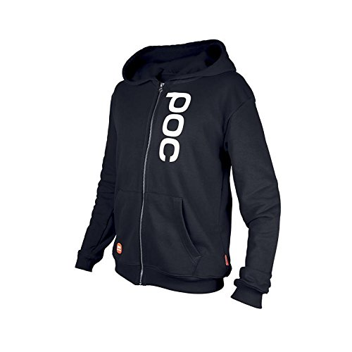 POC Junior Race Stuff Zip Skateboard Hoodie, Uranium Black, Size 140/10