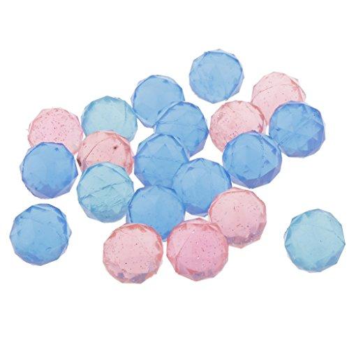 Fenteer 全20個 カラフル ダイヤモンド 弾丸ボール 弾み球おもちゃ 2サイズ選択でき - 25mm