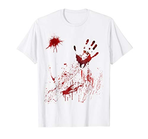White T Shirt Halloween Blood (Bloody Shirt for Halloween)