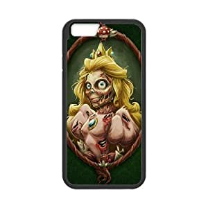 Jumphigh Zombies IPhone 6 Cases Zombified Princess Peach for Women Protective, Iphone 6 Cases for Girls Designs, {Black}