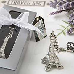 Eiffel Tower Key Chain Favors (24 pieces)