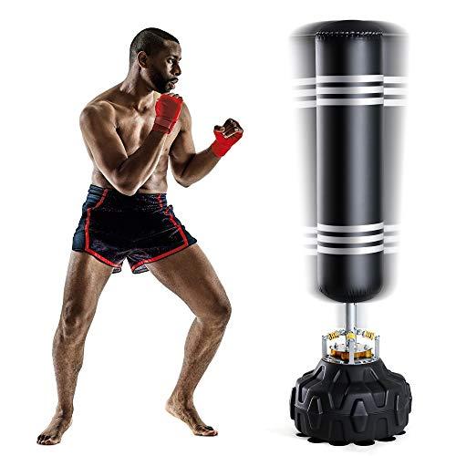 Fnova – Saco de boxeo con base, para niños y adultos, para artes marciales mixtas, boxeo y entrenamiento de patadas, con…