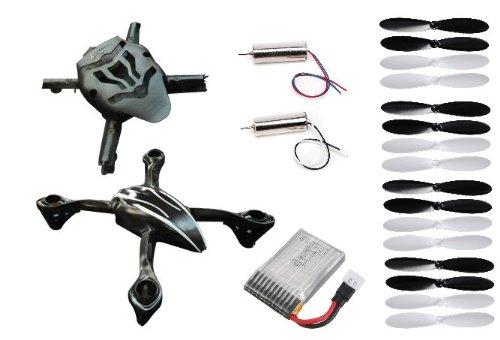 HobbyFlip Fuselage Body Frame Battery Propellers CW/CCW 7mm Motor for Traxxas QR-1