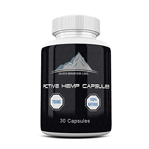 Hemp Capsules | 25mg Active Hemp Oil Extract Powder Per Capsule | 30 Capsule Bottle | 100% Natural, GMP and FDA Registered Manufacturing