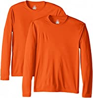 Hanes Men's Long Sleeve Cool DRI T-Shirt UPF 50-Plus
