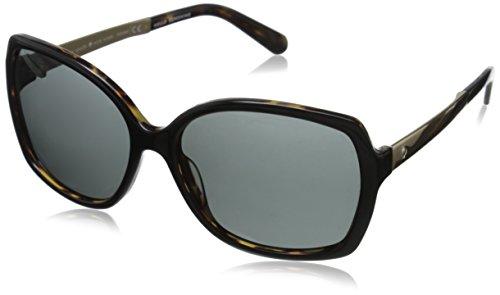 Kate Spade Women's Darilynn Polarized Square Sunglasses, Black Tortoise & Gray Polarized, 58 - Spade Sunglasses Kate Tortoise