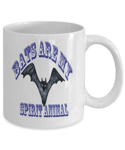 Halloween Bats Are My Spirit Animal Coffee Mug Bat Mug Halloween Gift For Her Bat Gift For Him Halloween Mug Bat Coffee Mug Halloween Cup]()