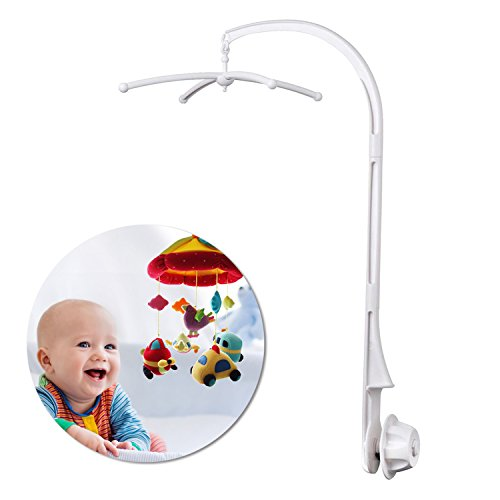 AGPtek 28 inch Baby Crib Mobile Bed Bell Holder Music Box Holder Arm Bracket Baby Bed Stent Set Nut Screw