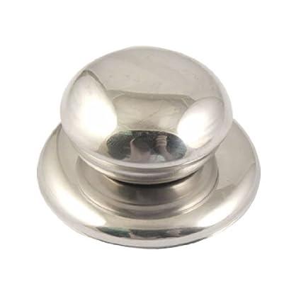 eDealMax olla de acero inoxidable Tapa Perilla para cocinar piezas de plata del tono
