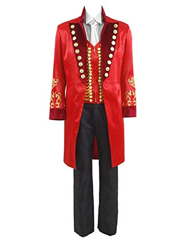 Qi Pao Kids Greatest Showman Barnum Performance Uniform Halloween Outfit Cosplay Costume (Little Boys 6, Red) -