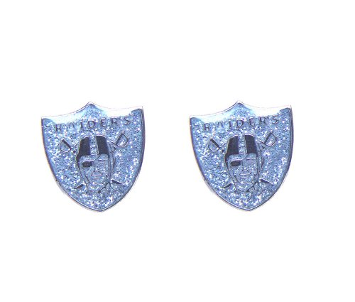 NFL Oakland Raiders Glitter Post Earrings