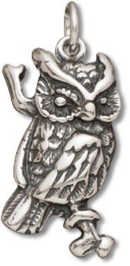 Sterling Silver Owl Charm with Split Ring Item #3399